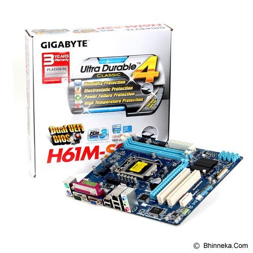 GIGABYTE Motherboard Socket LGA1155 [GA-H61M-S2PV] - Motherboard Intel Socket Lga1155